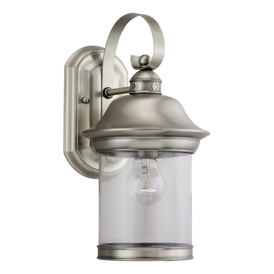 Sea Gull Lighting Hermitage 13.5-in H Antique Brushed Nickel Outdoor Wall Light