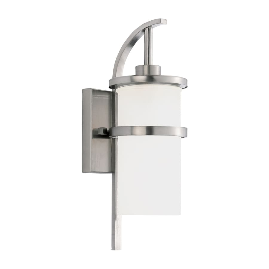 Sea Gull Lighting Eternity 17.5-in H Brushed Nickel Outdoor Wall Light