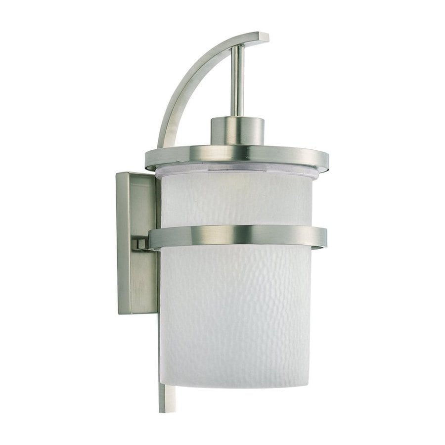 Sea Gull Lighting Eternity 20.75-in H Brushed Nickel Outdoor Wall Light
