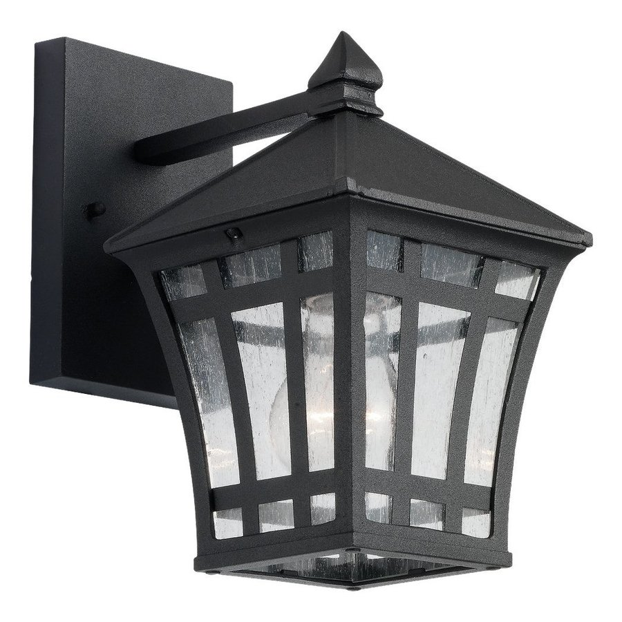 Sea Gull Lighting Herrington 10-in H Black Outdoor Wall Light