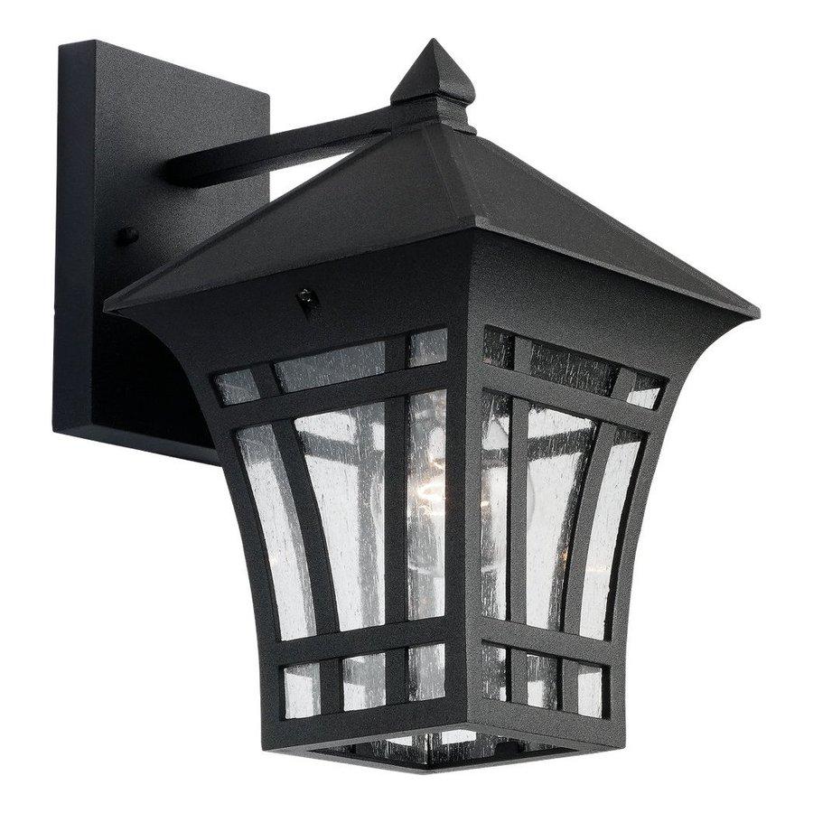 Sea Gull Lighting Herrington 11.75-in H Black Outdoor Wall Light