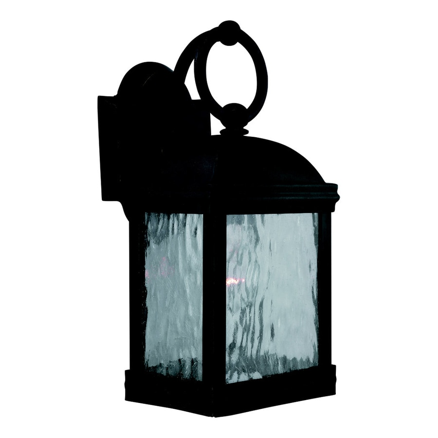 Sea Gull Lighting Branford 14-in H Obsidian Mist Outdoor Wall Light
