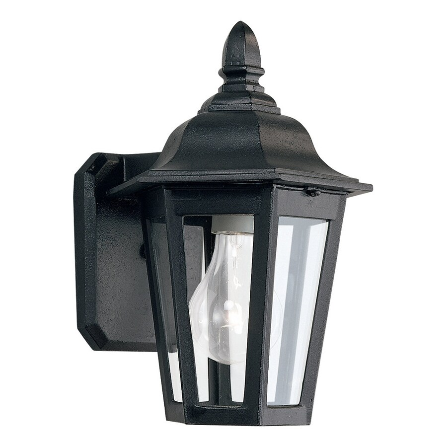 Sea Gull Lighting Brentwood 10.25-in H Black Outdoor Wall Light