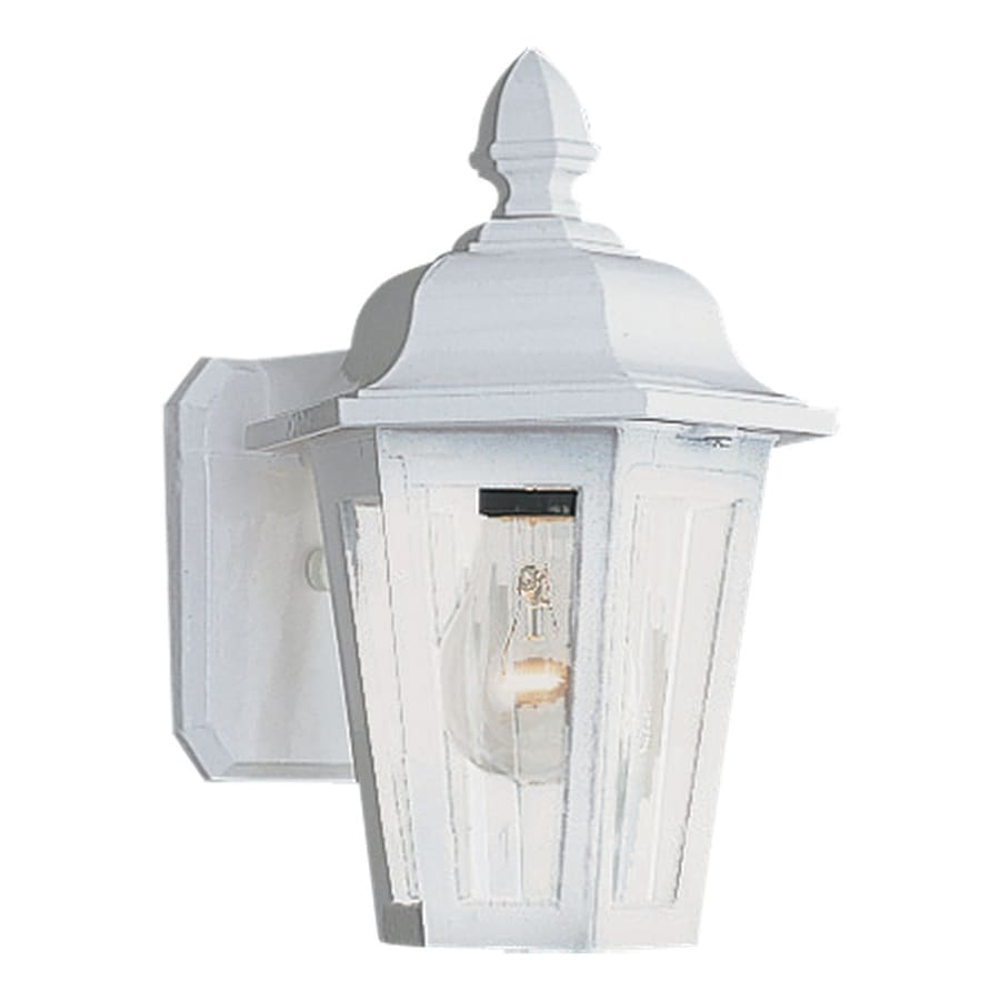 Sea Gull Lighting Brentwood 10.25-in H White Outdoor Wall Light