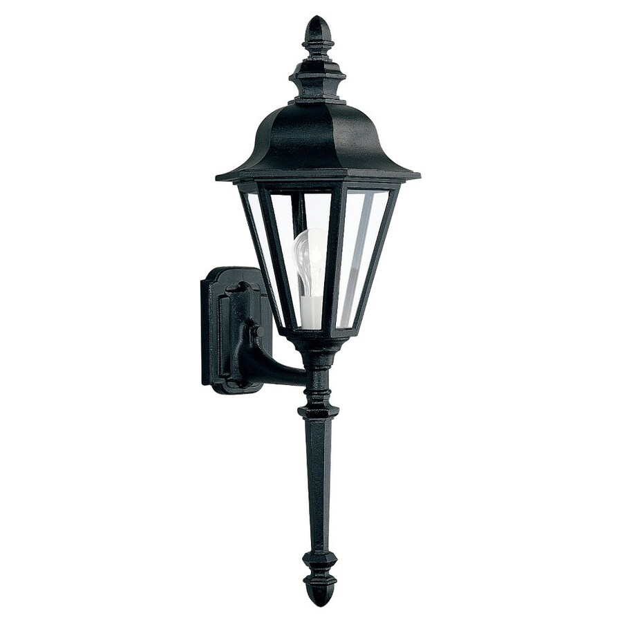 Sea Gull Lighting Brentwood 28-in H Black Outdoor Wall Light