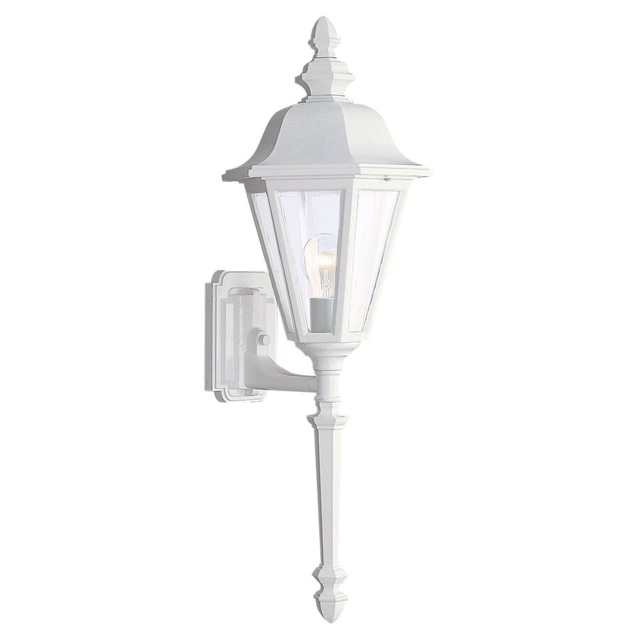 Sea Gull Lighting Brentwood 28-in H White Outdoor Wall Light