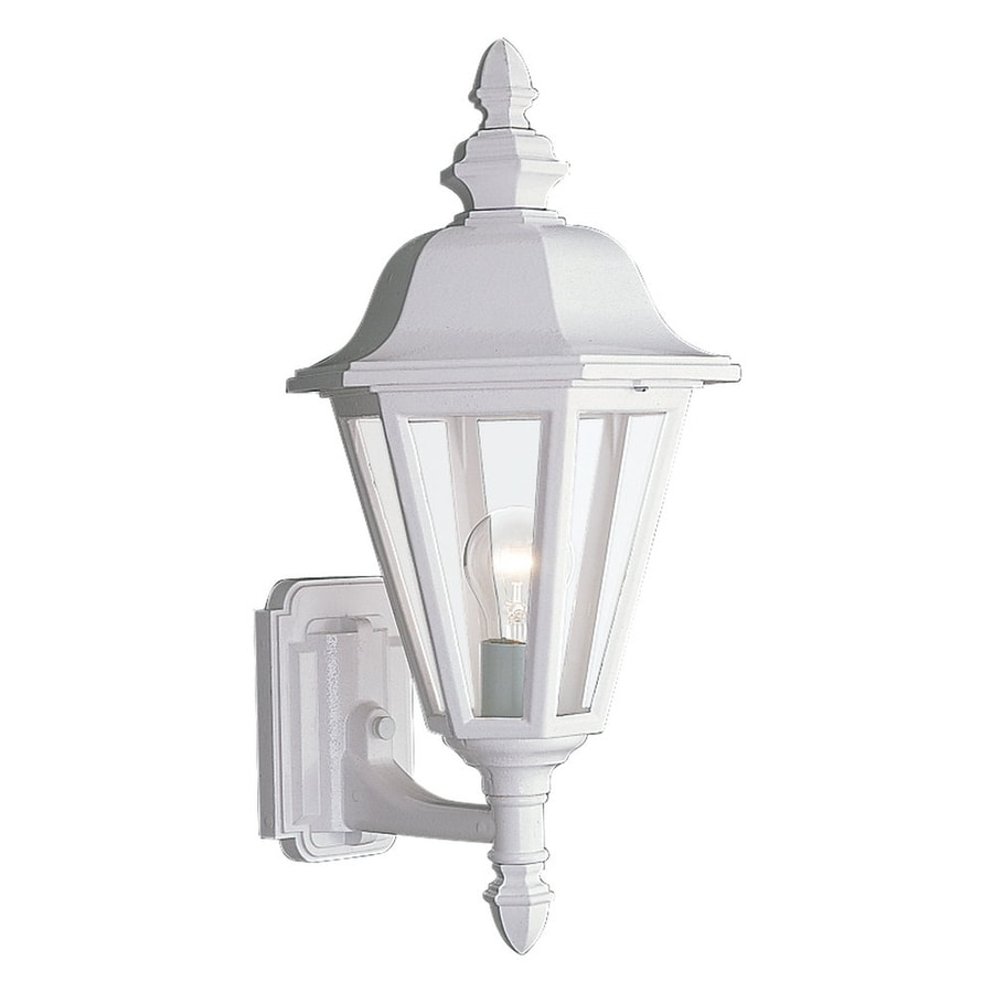 Sea Gull Lighting Brentwood 19.75-in H White Outdoor Wall Light