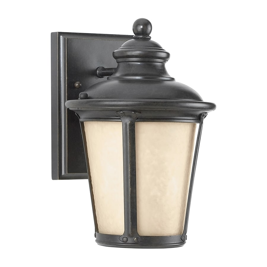 Sea Gull Lighting Cape May 10.5-in H Burled Iron Dark Sky Outdoor Wall Light
