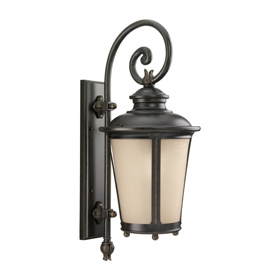 Sea Gull Lighting Cape May 26.25-in H Burled Iron Outdoor Wall Light