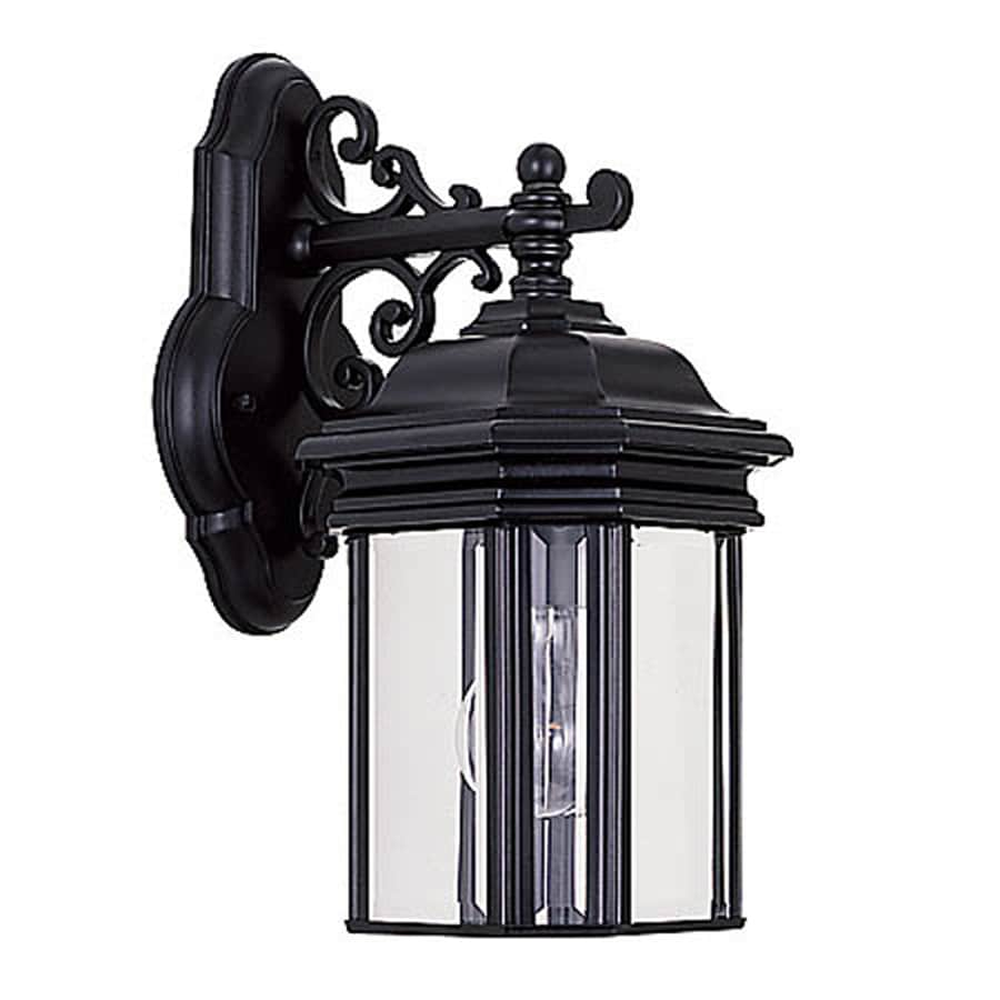Sea Gull Lighting Hill Gate 13.5-in H Black Outdoor Wall Light