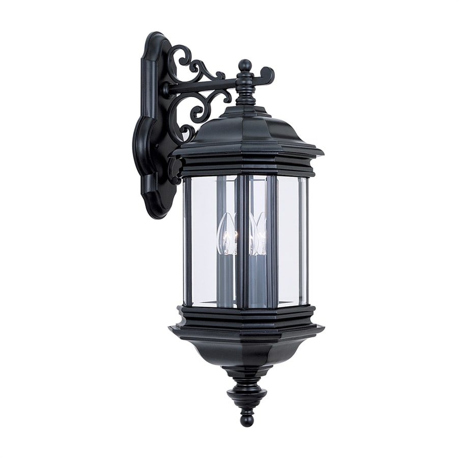 Sea Gull Lights: Sea Gull Lighting Hill Gate 25.5-in H Black Outdoor Wall