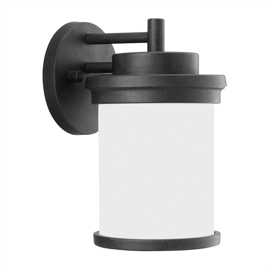 Sea Gull Lighting Winnetka 10.25-in H Forged Iron Outdoor Wall Light