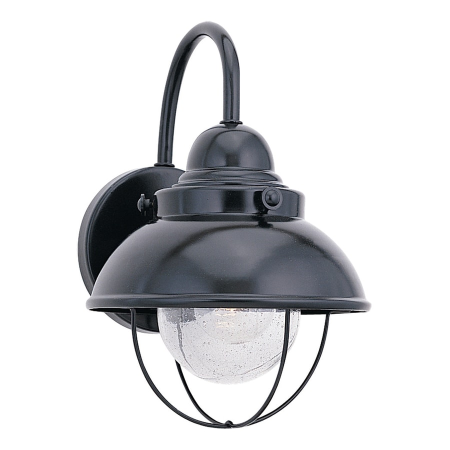 Sea Gull Lighting Sebring 15.75-in H Black Outdoor Wall Light