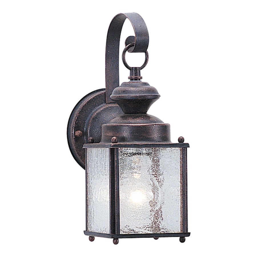 Sea Gull Lighting Jamestowne 11.25-in H Textured Rust Patina Outdoor Wall Light