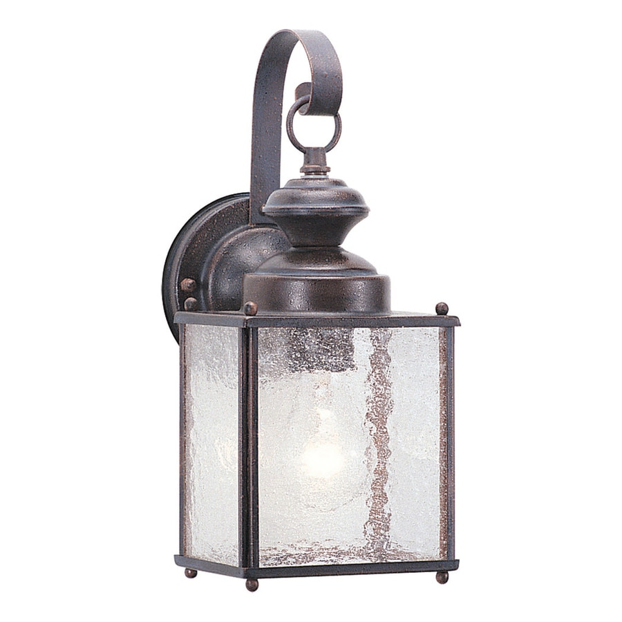 Sea Gull Lighting Jamestowne 12.5-in H Textured Rust Patina Outdoor Wall Light