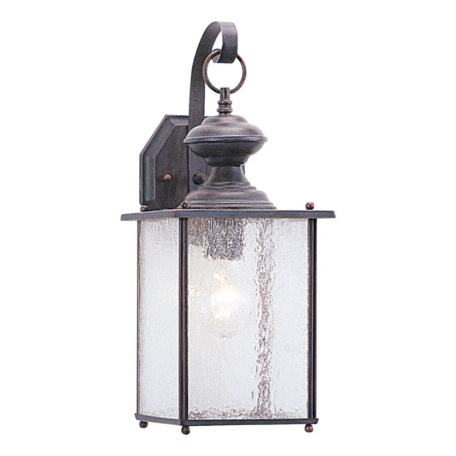 Sea Gull Lighting Jamestowne 17-in H Textured Rust Patina Outdoor Wall Light