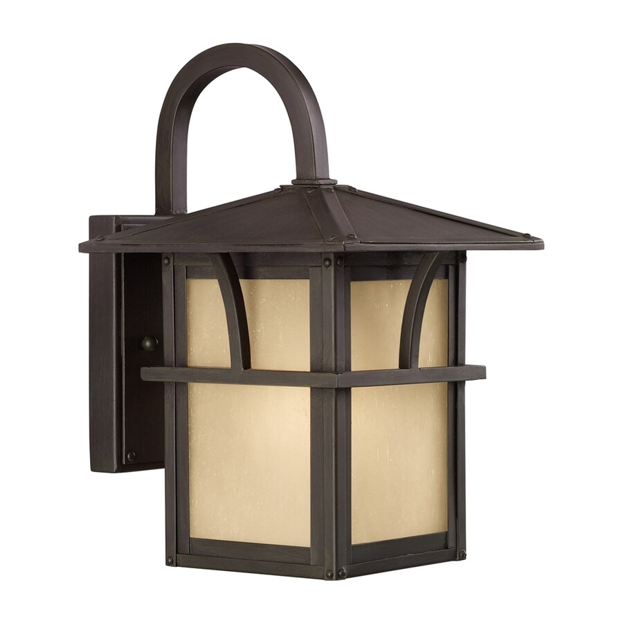 Sea Gull Lighting Medford Lakes 11-in H Statuary Bronze Outdoor Wall Light