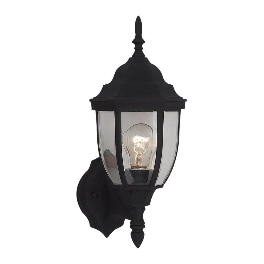 Sea Gull Lighting Bakersville 15.5-in H Black Outdoor Wall Light