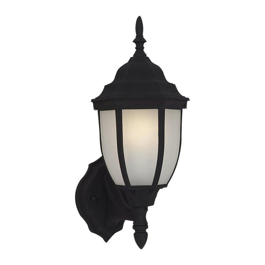 Sea Gull Lighting Bakersville 15.5-in H Black Outdoor Wall Light ENERGY STAR