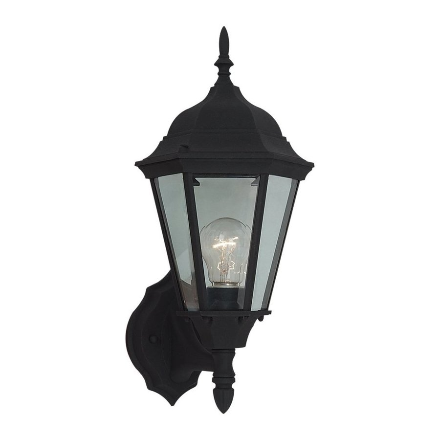 Sea Gull Lighting Bakersville 17-in H Black Outdoor Wall Light