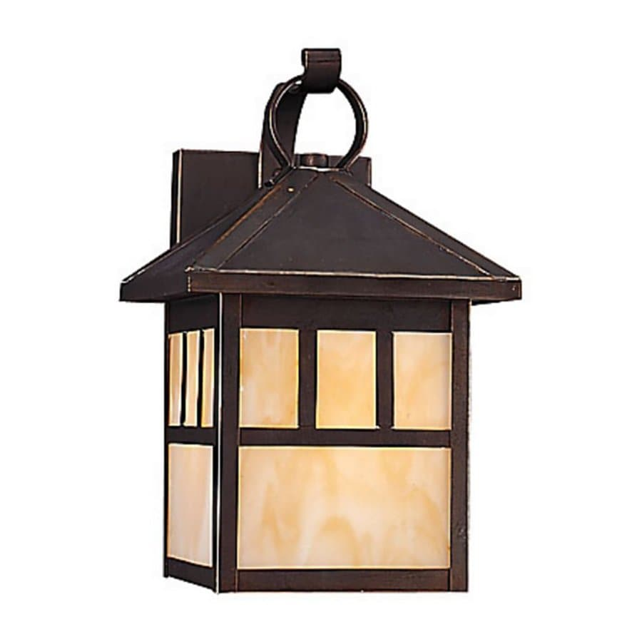 Sea Gull Lighting Prairie Statement 11.5-in H Antique Bronze Outdoor Wall Light ENERGY STAR