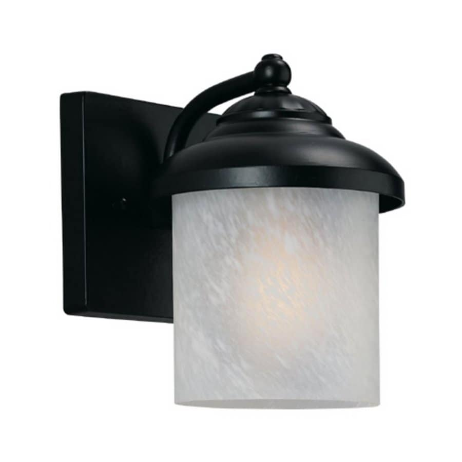 Sea Gull Lighting Yorktown 8.25-in H Black Outdoor Wall Light ENERGY STAR