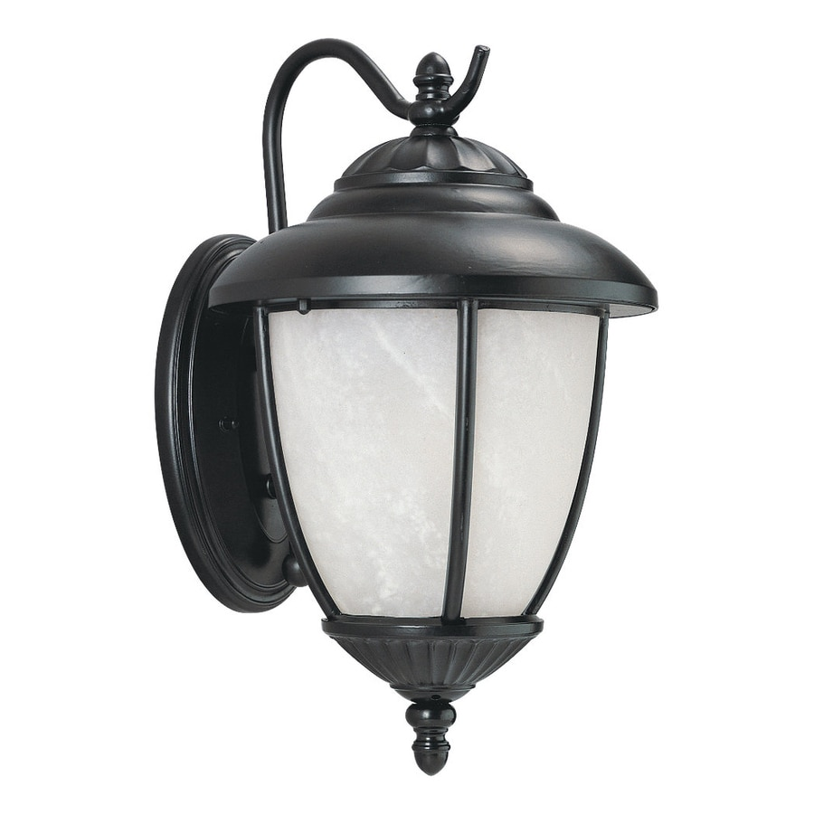 Sea Gull Lighting Yorktown 13.25-in H Black Outdoor Wall Light ENERGY STAR