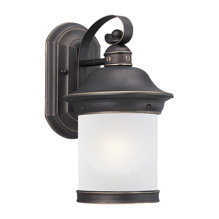 Sea Gull Lighting Hermitage 13.5-in H Antique Bronze Outdoor Wall Light ENERGY STAR