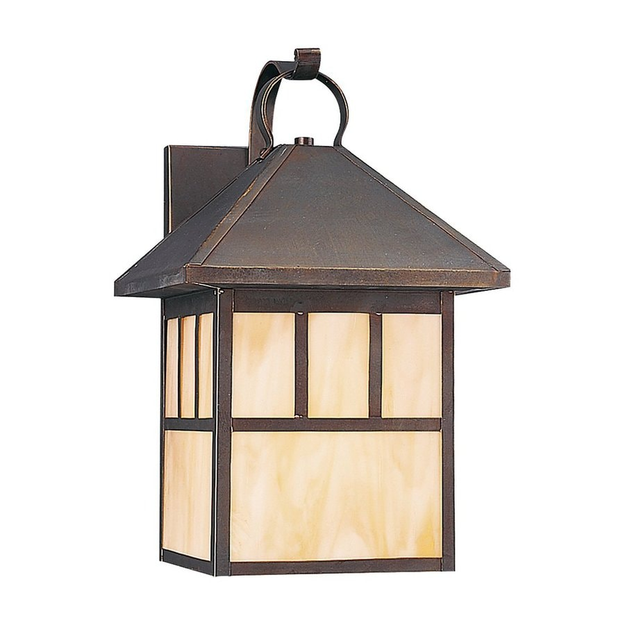 Sea Gull Lighting Prairie Statement 16.5-in H Antique Bronze Outdoor Wall Light ENERGY STAR