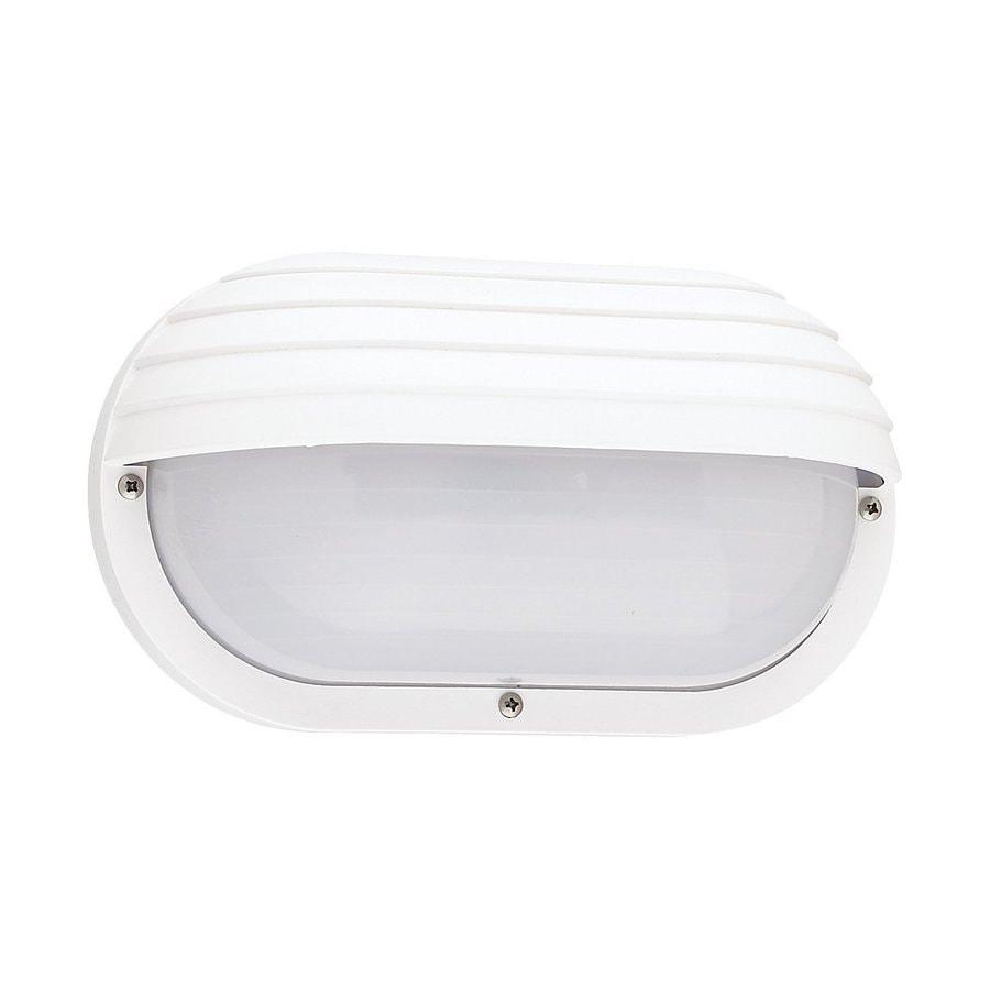 Sea Gull Lighting Bayside 5-in H White Outdoor Wall Light ENERGY STAR
