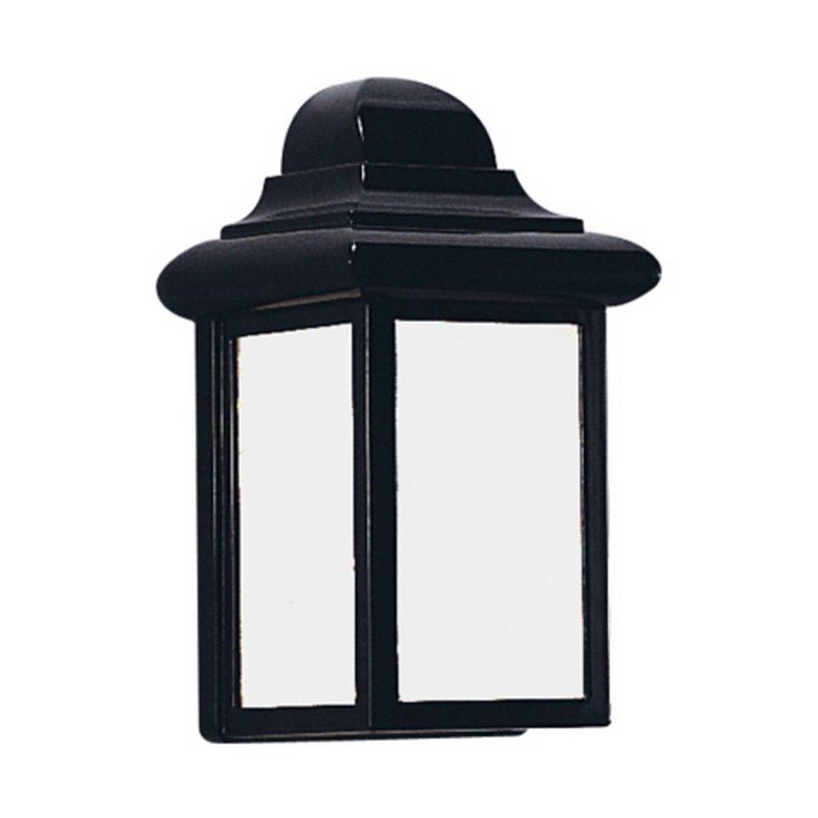 Sea Gull Lighting Mullberry Hill 8.75-in H Black Outdoor Wall Light ENERGY STAR
