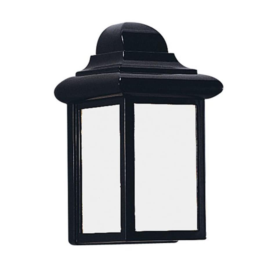 Sea Gull Lighting Mullberry Hill 8.75-in H Black Outdoor Wall Light