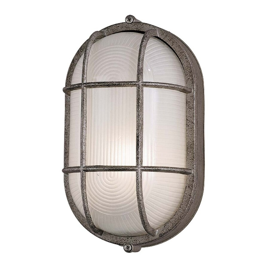 Philips Oceanview 11-in H Silver Rust Medium Base (E-26) Outdoor Wall Light