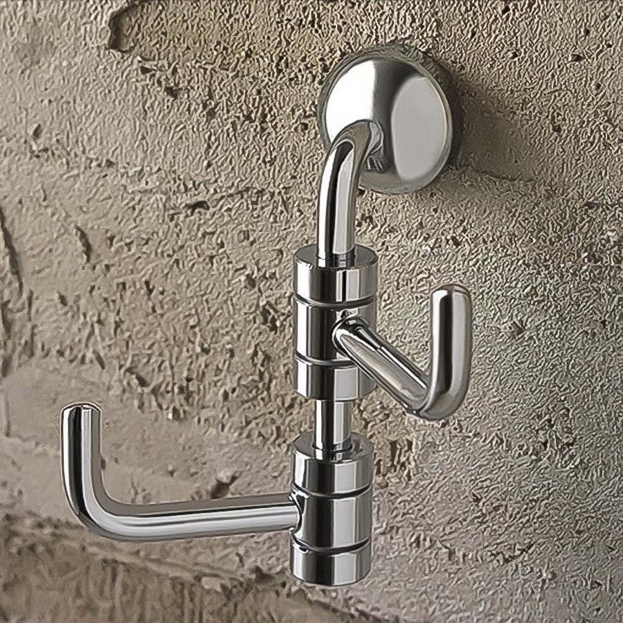 Nameeks Riviera 2-Hook Chrome Towel Hook