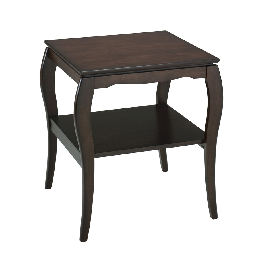 Office Star Brighton Espresso Rubberwood Square End Table