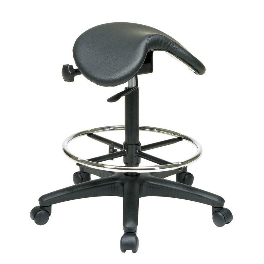 Office Star Work Smart ST Series Black Vinyl Drafting Office Chair