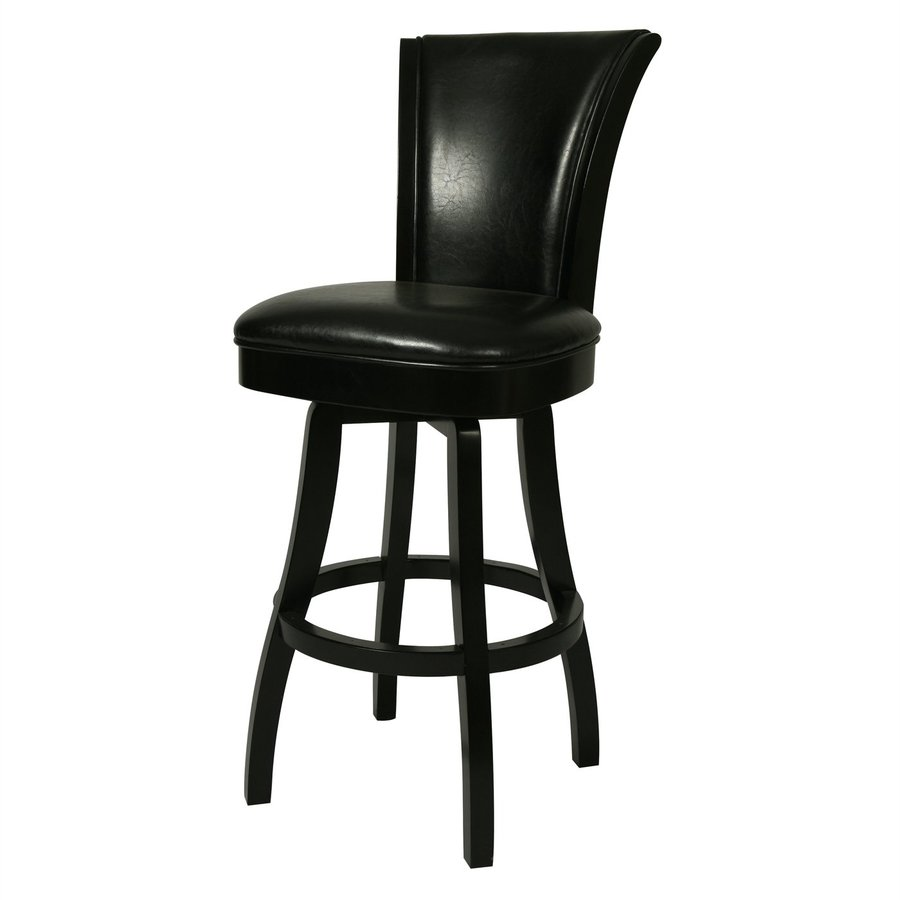 Impacterra Glenwood Feher Black 26-in Counter Stool