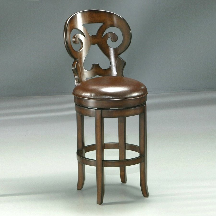 Impacterra Hermosa Russet Cordovan 26-in Counter Stool