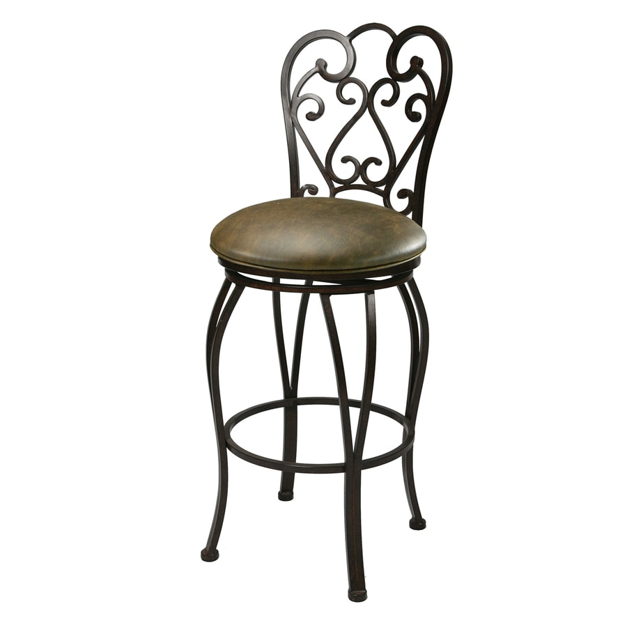 Pastel Furniture Magnolia Florentine Coffee 30-in Bar Stool