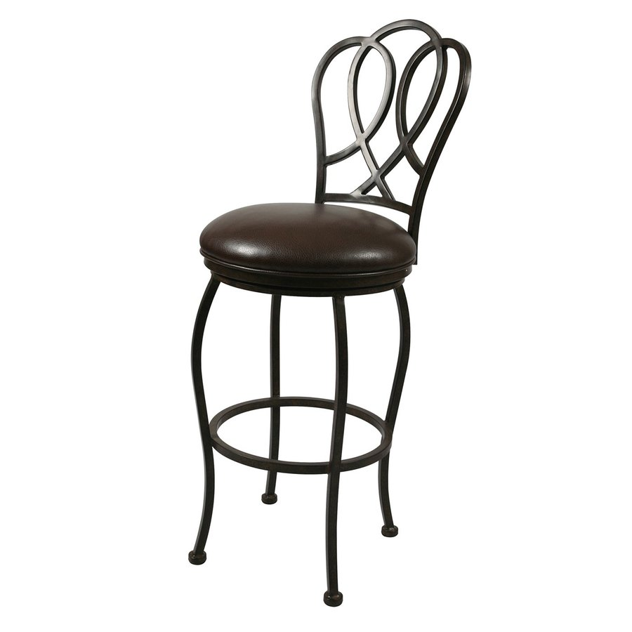 Impacterra Oxford Ford Brown 30-in Bar Stool