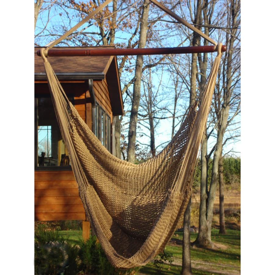 Phat Tommy Outdoor Oasis Desert Tan Woven Hammock Chair