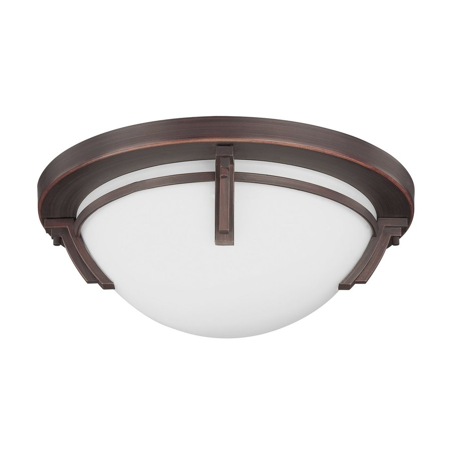 Kendal Lighting Portobello 16.5-in W Oil-Rubbed Bronze Flush Mount Light