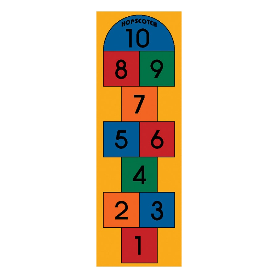 Learning Carpets Play Carpets Rectangular Indoor/Outdoor Tufted Educational Runner (Common: 2 x 6; Actual: 24-in W x 78-in L)