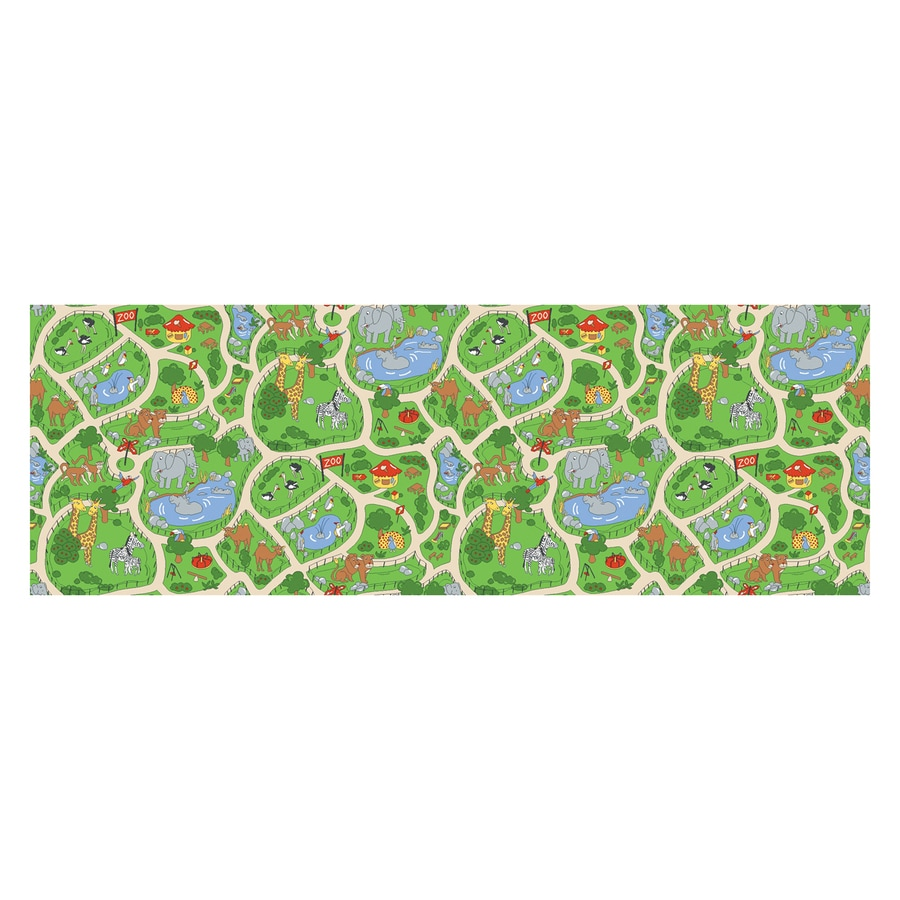 Learning Carpets Play Carpets Rectangular Indoor/Outdoor Tufted Kids Area Rug (Common: 3 x 6; Actual: 3-ft W x 6.5-ft L)