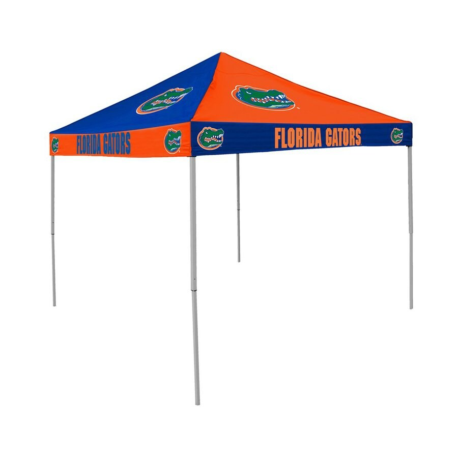 Logo Chairs Checkerboard 9-ft W x 9-ft L Square NCAA University Of Florida Gators Steel Pop-Up Canopy