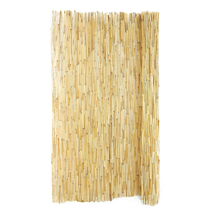 Backyard X-Scapes Natural Wood Reed Fencing (Common: 16-ft ...