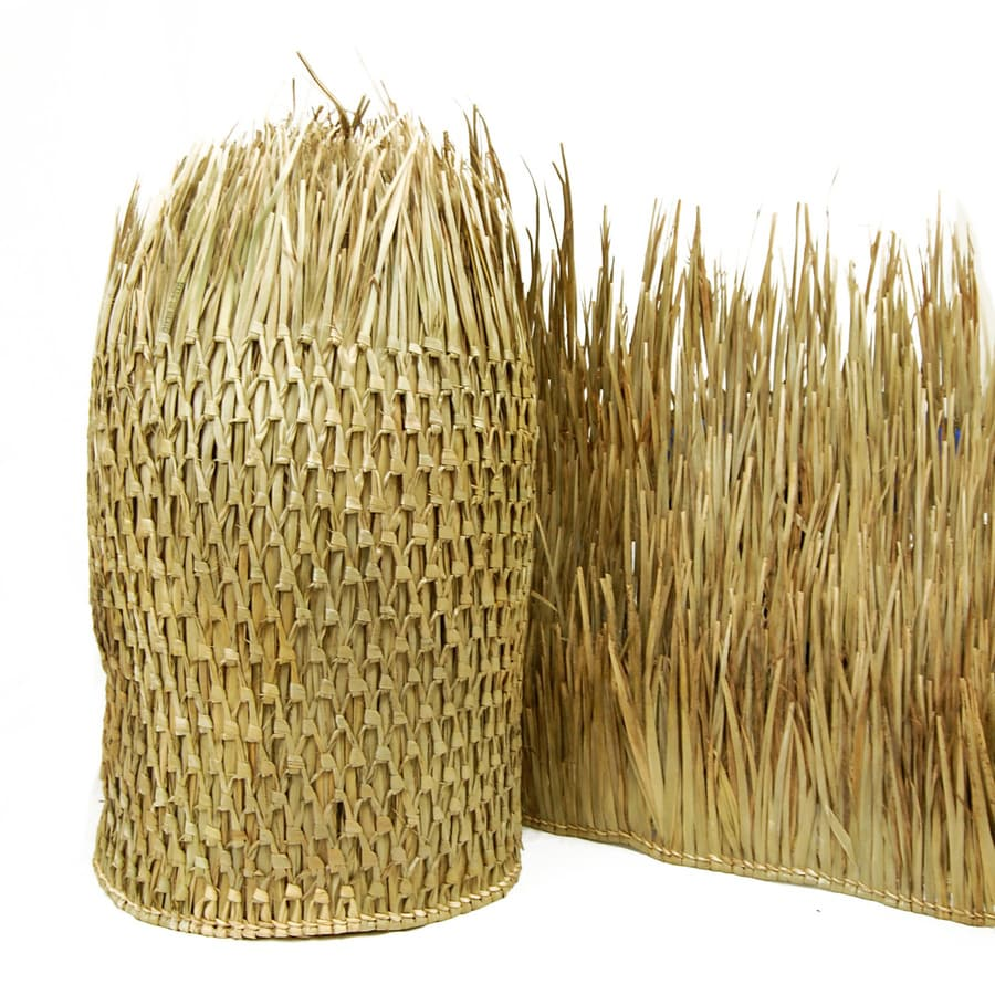 Backyard X-Scapes (Actual: 57-ft x 2.5-ft) Natural Thatch Panels Rolled Fencing