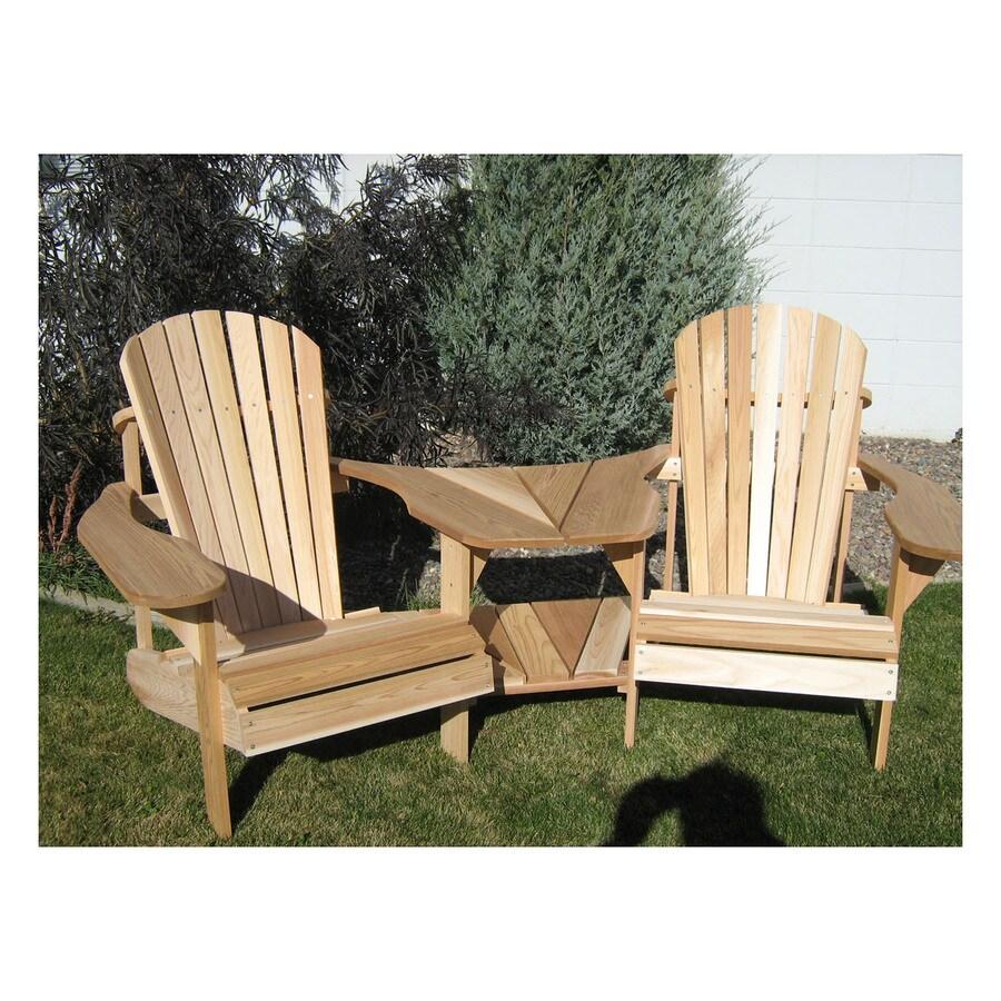 All Things Cedar Muskoka 2-Count Tan Cedar Patio Adirondack Chair