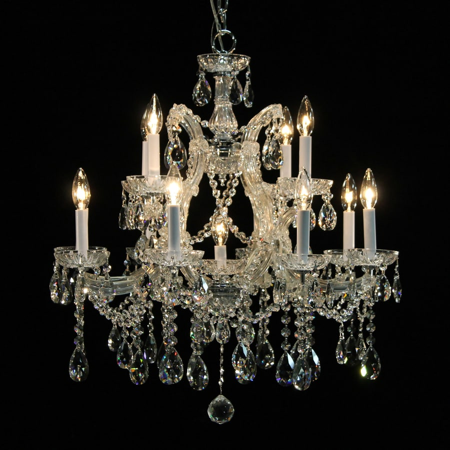 Weinstock Illuminations 30-in 13-Light Chrome Crystal Candle Chandelier