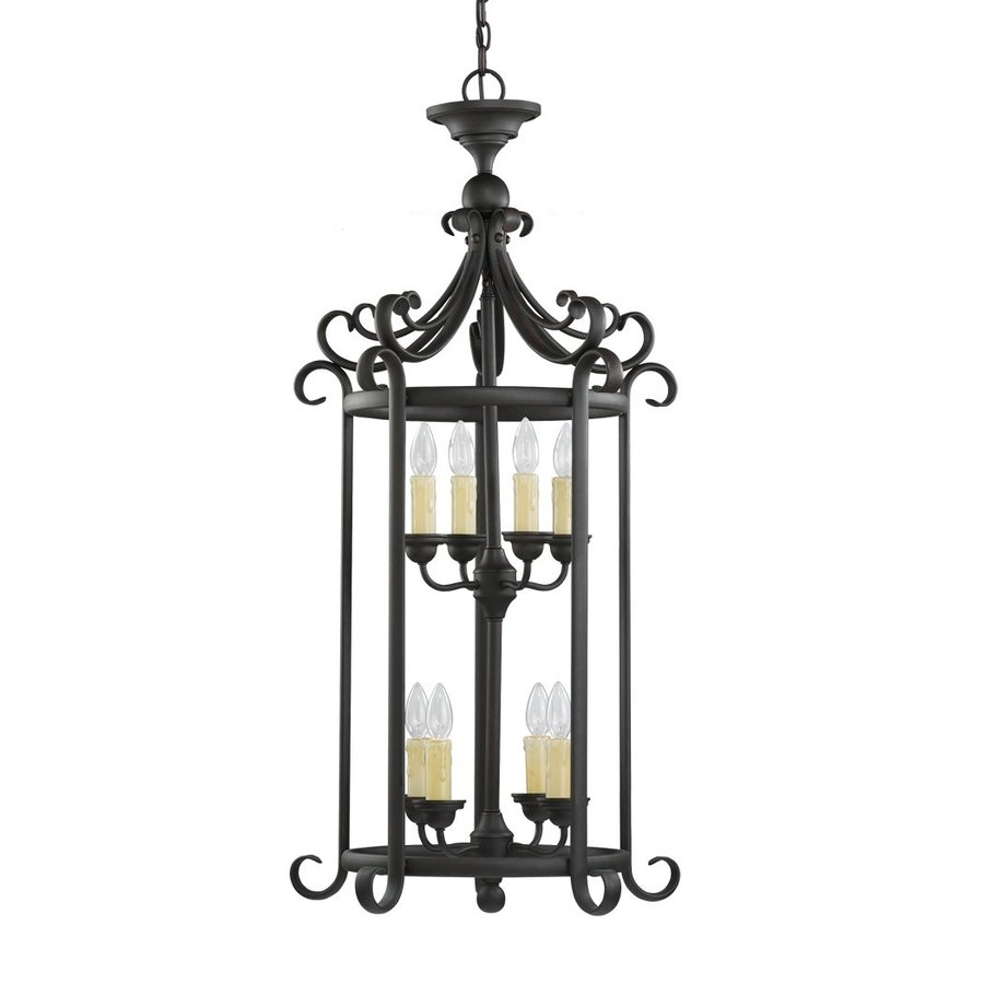 Sea Gull Lighting Del Prato 21.25-in 8-Light Chestnut Bronze Mediterranean Cage Chandelier